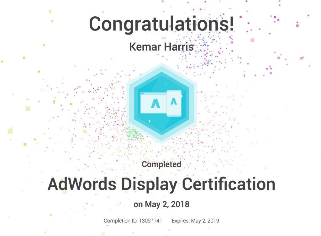 Google-Adwords-Certification---Kemar-Harris